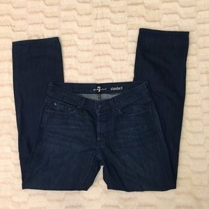 7 For All Mankind Standard Button Fly Jeans Sz 33